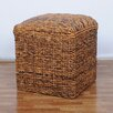 International Caravan Bali Ottoman with Cushion