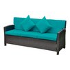 International Caravan Valencia Wicker Resin Sofa with Cushions
