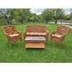 <strong>Dresden 4 Piece Lounge Seating Group</strong> by International Caravan