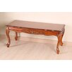 <strong>Windsor Hand Carved Wood Coffee Table</strong> by International Caravan