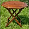 Acacia Patio Octagonal Folding Dining Table