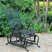 International Caravan Tropico Iron Single Patio Glider Chair