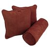 Blazing Needles Microsuede Throw Pillows (Set of 3)
