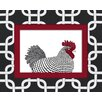 <strong>Obvious Place</strong> Rooster Red Graphic Art on Canvas