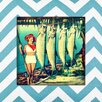 <strong>Obvious Place</strong> Girl with Fish Painting Print on Canvas