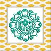 <strong>Obvious Place</strong> Cutout Ornament Graphic Art on Canvas in Teal
