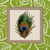 <strong>Obvious Place</strong> Peacock Feather Graphic Art on Canvas