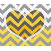 <strong>Obvious Place</strong> Chevron Heart Graphic Art on Canvas
