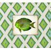 Obvious Place Fish Graphic Art on Canvas in Green