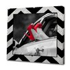 Obvious Place Red Shoes Black Chevron Photographic Print on Canvas