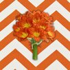 <strong>Obvious Place</strong> Orange Botanical Graphic Art on Canvas