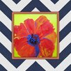 Obvious Place Painted Poppy Painting Print on Canvas in Multi