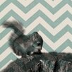 Obvious Place Baby Squirrel Graphic Art on Canvas in Black