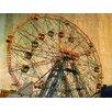 Graffitee Studios New York Wonder Wheel Coney Island Photographic Print on Canvas