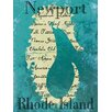 <strong>Graffitee Studios</strong> Rhode Island Newport Seahorse Textual Art on Canvas