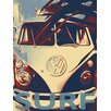 <strong>Graffitee Studios</strong> Surf Vintage Surf Hope Graphic Art on Canvas