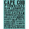 Graffitee Studios Cape Cod Towns Textual Art on Canvas