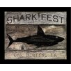 <strong>Graffitee Studios</strong> Coastal Shark Fest Framed Graphic Art