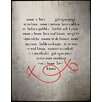 Graffitee Studios Feminine/Romance Love and Kisses Textual Art on Wrapped Canvas
