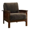 Kingstown Home Warner Mission Fabric Arm Chair and Ottoman