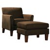 Kingstown Home Warner Microfiber Arm Chair and Ottoman