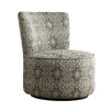 Kingstown Home Alfosa Damask Print Swivel Accent Chair