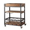 Kingstown Home Eastfield Kitchen Cart with Wood Top