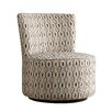 Kingstown Home Alfosa Honeycomb Print Swivel Accent Chair