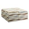 Kingstown Home Novella Vertical Wavy Stripe Print Storage Ottoman