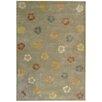 Martha Stewart Rugs Garland Pearl/Grey Floral Area Rug