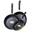 <strong>Ozeri</strong> 3-Piece Green Earth Frying Pan Set