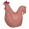 Craft Outlet Gingham Checkered Fabric Hen Doll Collectible Figurine