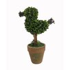 <strong>Craft Outlet</strong> Floral Bird Topiaries in Pot (Set of 2)