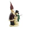 Craft Outlet Santa Building Snowman Collectible Figurine
