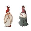 Craft Outlet Antique Large Snowmen and Santa Clothespin Set (Set of 2)
