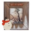 "Craft Outlet Medium ""Let it Snow"" Cabin Photo Frame"