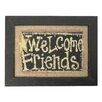 Craft Outlet Welcome Friends Framed Textual Art