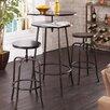 Holly & Martin Kalomar 3 Piece Adjustable Height Dining Table Set