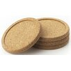 "<strong>Axis Sourcing Group Inc</strong> 4"" Cork Coaster (Set of 4)"