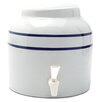 Goldwell Enterprises Inc. 2.5 Gal Stripe Porcelain Water Dispenser Crock