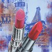 Benjamin Parker Galleries Lips in Paris Original Painting on Canvas