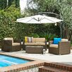 The-Hom Cane Garden 5 Piece Seating Group with Cushions