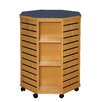 "Russwood ShowMore Series Mobile Octagon Slatwall 39"" Shelf Display"