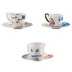 Seletti Hybrid Porcelain Coffee Cup and Saucer Set