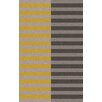 Muse by HTL Dove/Sulphur Stripe Area Rug