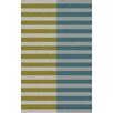 Muse by HTL Moss/Taupe Stripe Area Rug
