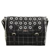 <strong>Nicole Lee</strong> Minerva Zebra Quilted Embellished Messenger Bag
