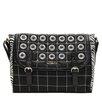 Nicole Lee Minerva Zebra Quilted Embellished Messenger Bag