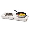 Elite by Maxi-Matic Cuisine Electric Double Hot Plate Coil Burner