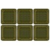 Pimpernel Shagreen Leather Coaster (Set of 6)